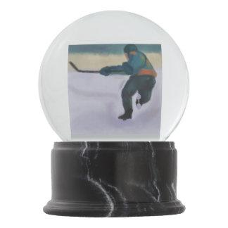 Hockey Player Snow Globe