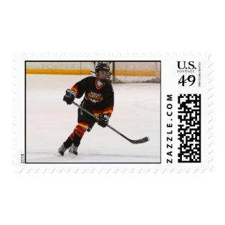 Hockey Player Stamp