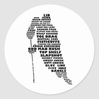 Hockey Player Text Art Stickers
