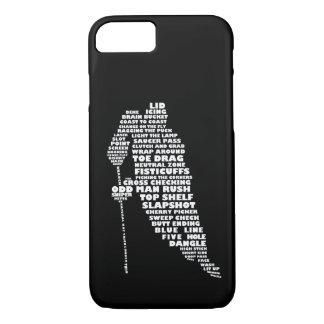 Hockey Player Typography Design iPhone 7 case