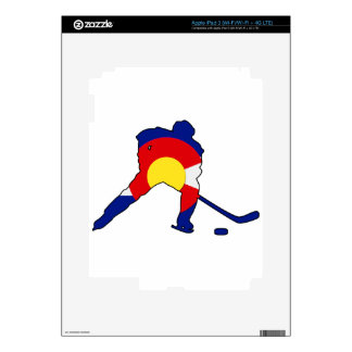 Hockey Player With Colorado Pride Skins For iPad 3