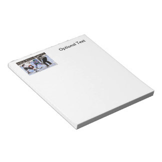 Hockey Players and Referee Face Off Notepad