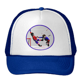 Hockey Players in Action Hat