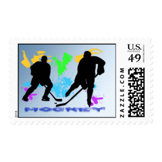 Hockey Players Postage