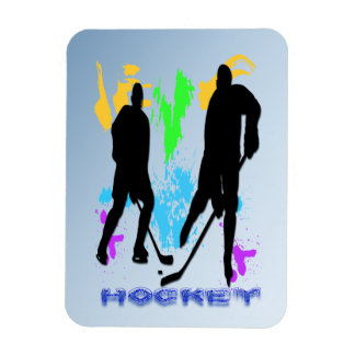 Hockey Players Premium Magnet
