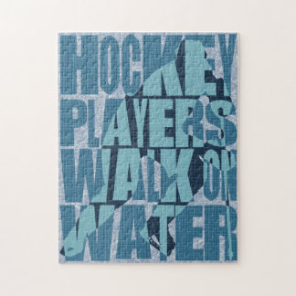 Hockey Players Walk On Water Jigsaw Puzzle