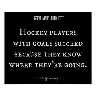 Hockey Players with Goals 001 Poster