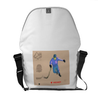Hockey Playoff Art Courier Bag