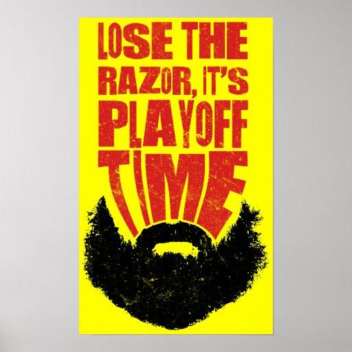 Hockey Playoff Beard Poster