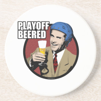Hockey Playoff Beered Drink Coaster