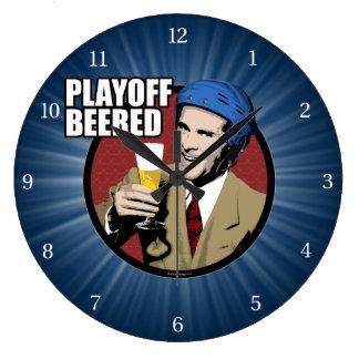 Hockey Playoff Beered Large Clock