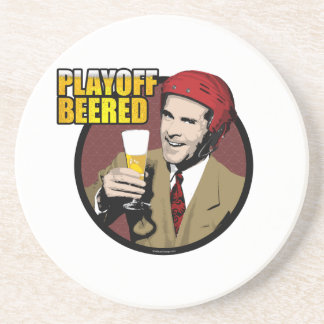 Hockey Playoff Beered Sandstone Coaster