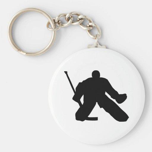 Hockey - portero llavero redondo tipo pin