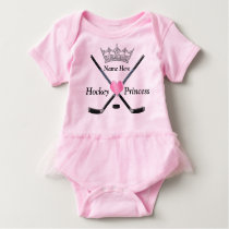 Hockey Princess Baby Girl Hockey Clothes with NAME Baby Bodysuit