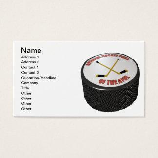 Hockey Puck Business Card
