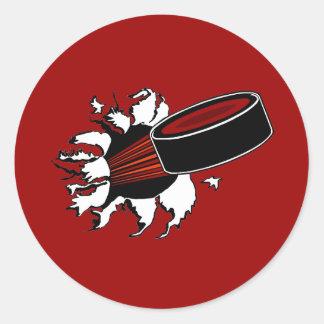 Hockey Puck Classic Round Sticker