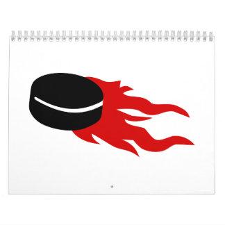 Hockey puck fire calendar