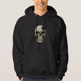 Hockey Puck in Skull Hoodie