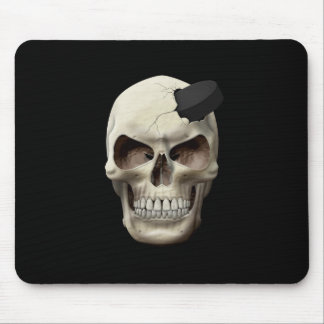 Hockey Puck in Skull Mouse Pad