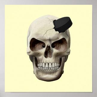 Hockey Puck in Skull Print