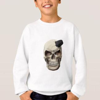 Hockey Puck in Skull Sweatshirt