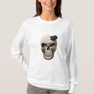 Hockey Puck in Skull T-Shirt