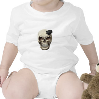 Hockey Puck in Skull Baby Bodysuit