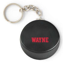 Hockey Puck Personalized Keychain