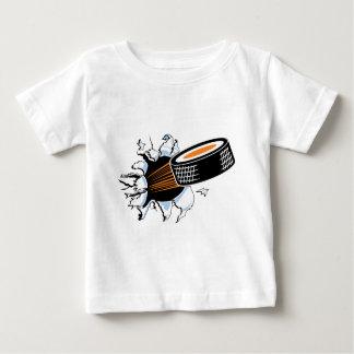 Hockey Puck Smash Baby T-Shirt