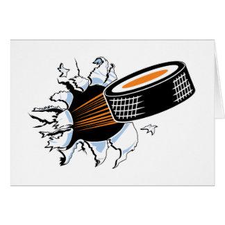 Hockey Puck Smash Card