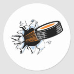 Hockey Puck Smash Sticker