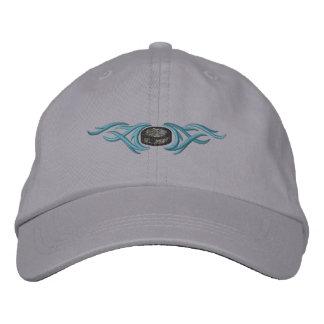Hockey Puck Tribal Embroidered Baseball Cap