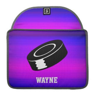 Hockey Puck; Vibrant Violet Blue and Magenta Sleeve For MacBooks