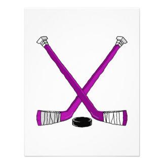 hockey púrpura invitaciones personales