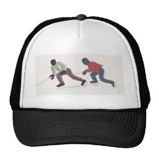 Hockey que dispara, gorra
