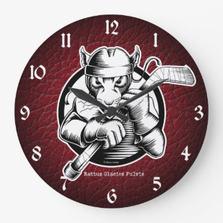 Hockey Rat Large Clock