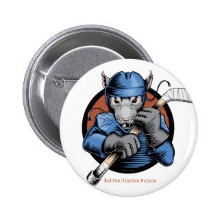 Hockey Rat Pinback Button