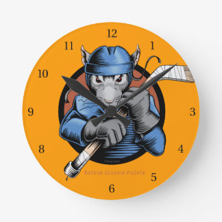 Hockey Rat Round Clock