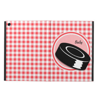Hockey Red and White Gingham Case For iPad Air