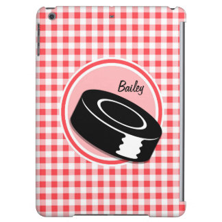 Hockey Red and White Gingham iPad Air Cover