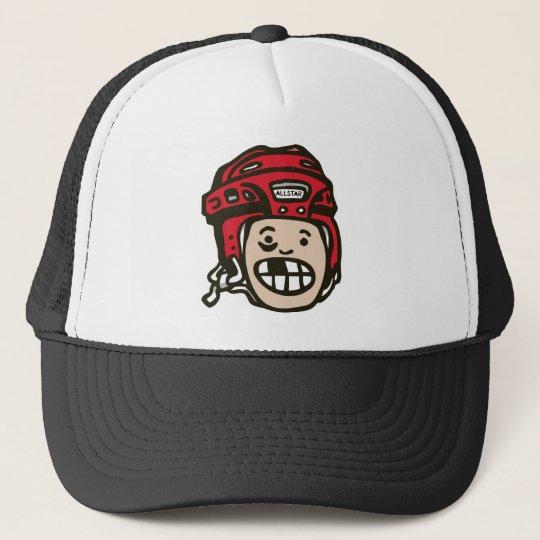 Hockey Red Trucker Hat