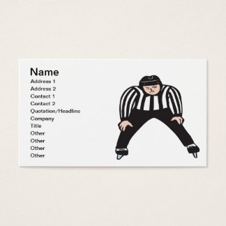 Hockey Referee Business Card
