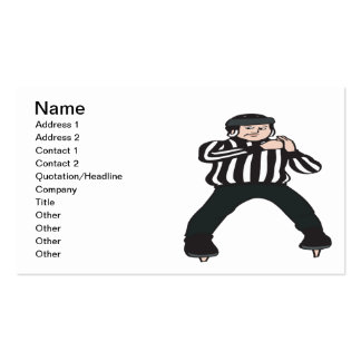 Hockey Referee Double-Sided Standard Business Cards (Pack Of 100)