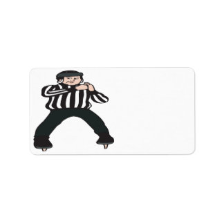 Hockey Referee Label