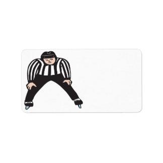Hockey Referee Label