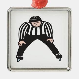 Hockey Referee Metal Ornament