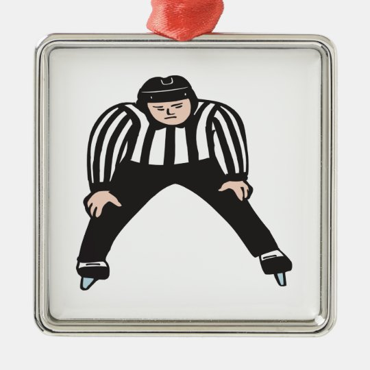 Hockey Referee Metal Ornament
