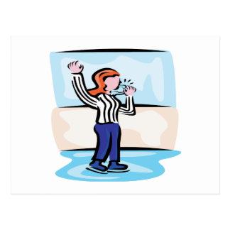 Hockey Referee Postcard