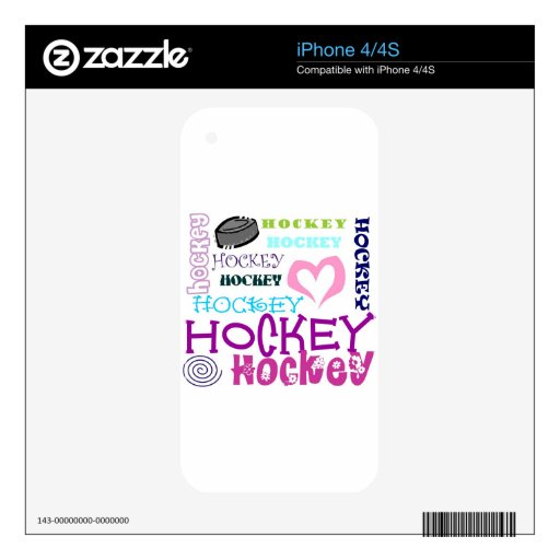 Hockey Repeating Decal For The iPhone 4