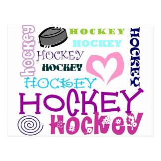 Hockey Repeating Postcard